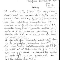 Testimonianza Severi Giuseppe S. Sofia, a (Fondo R. Absalom)
