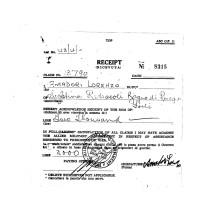 Ricevuta di lire 2.000 a favore di Amadori Lorenzo, Seghettina (Fondo R. Absalom)