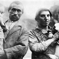 Strabatenza, anni Quaranta, la famiglia Beoni di Cà della Vigna