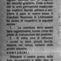 Volantino del CLN diffuso nell'estate 1944