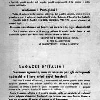 Volantino distribuito nella primavera del 1944 in Romagna