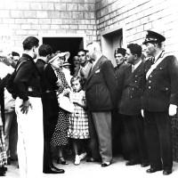 Giorgio Sanguinetti incontra Rachele Guidi Mussolini (in mezzo Anna Maria Mussolini) - fine anni '30 (ANPI-Cesena)