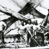 Cattolica, anni Trenta, equipaggio del peschereccio Solferino