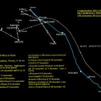 Itinerario della Fuga dei generali inglesi (La Romagna e i generali inglesi, Franco Angeli, Milano, 1982)