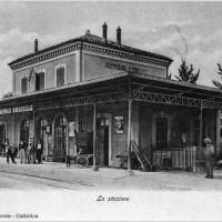 Stazione ferroviaria di Cattolica, fotografia storica