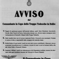 Manifesto fatto affiggere dai tedeschi nei territori occupati il 23 settembre 1943