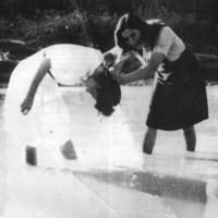 Donne al fiume; la foto è stata scattata nel 1944 da un militare tedesco in località Martorano di Cesena