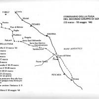 Itinerario della fuga del secondo gruppo di generali alleati